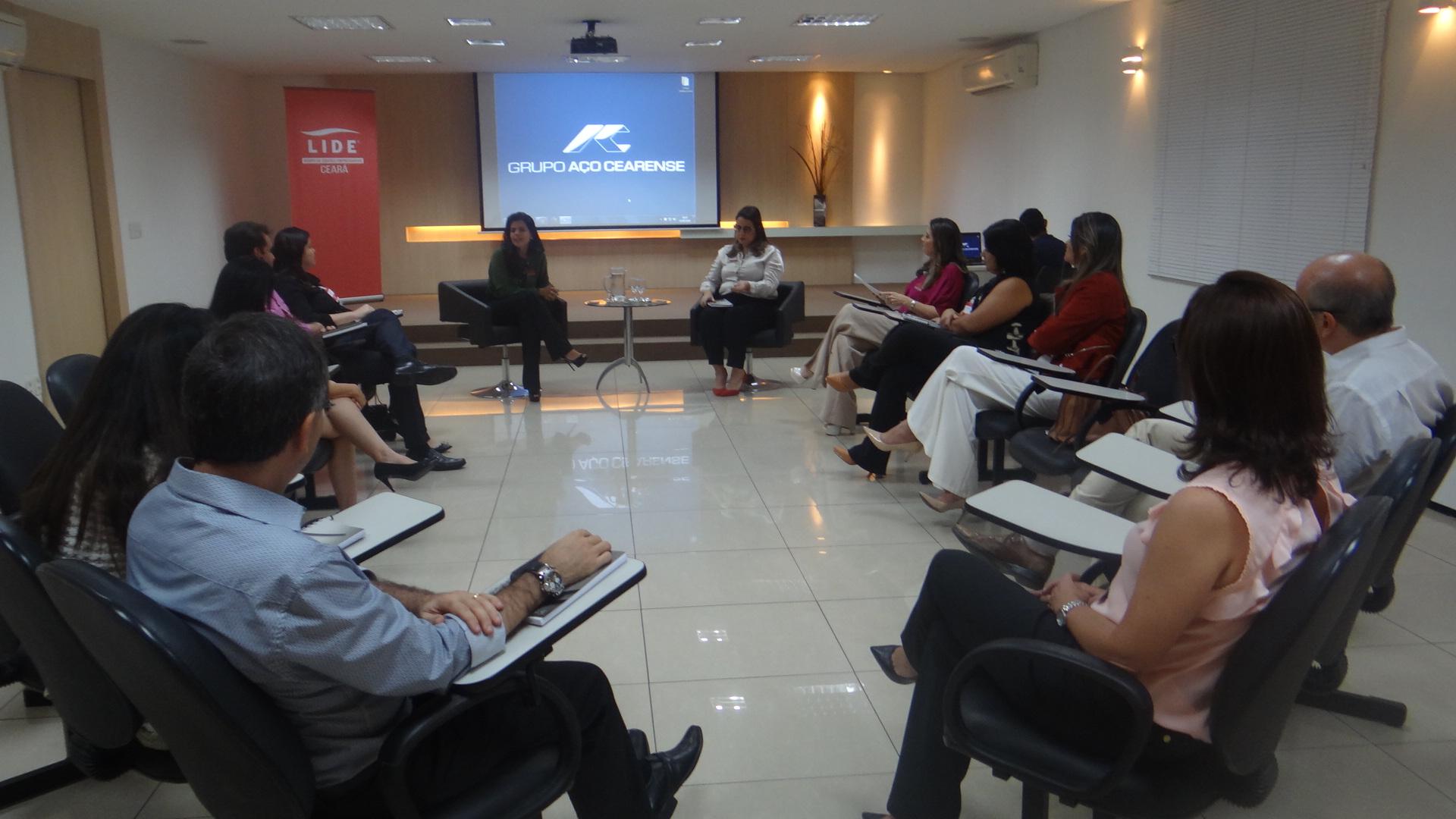 Aline Ferreira destaca trajetória empreendedora  LIDE Ceará
