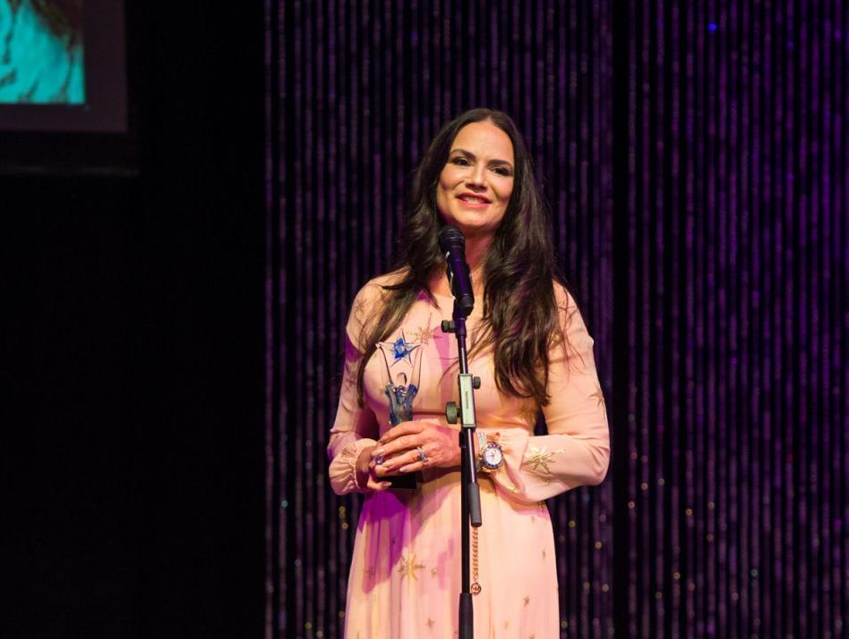 Luiza Brunet no Brazilian International Press Awards de Arte e Cultura 2018